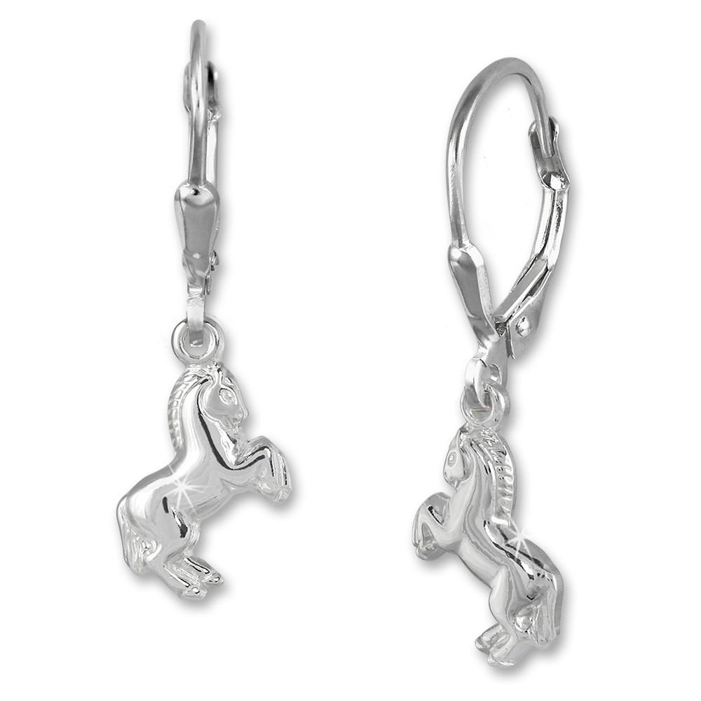 Kinder Ohrring Pferd 925er Silber Ohrhänger Kinderschmuck TW SDO583J