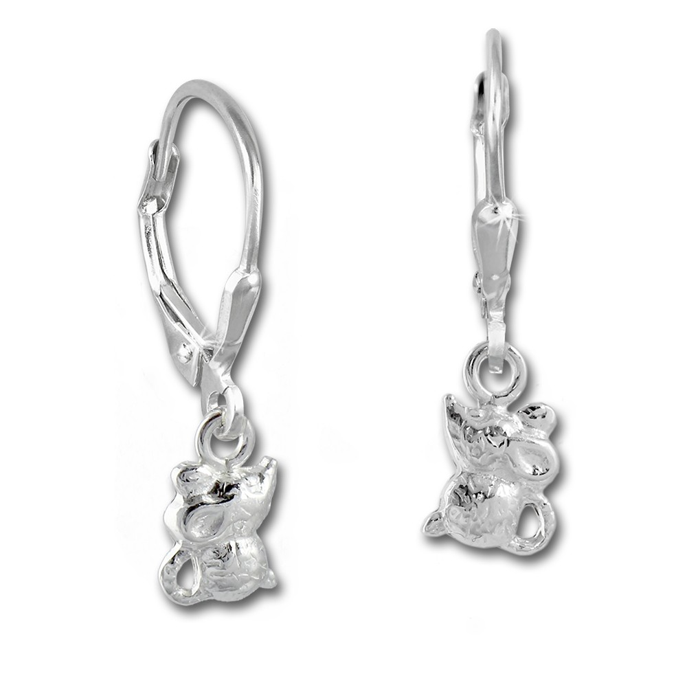 Kinder Ohrring Mäuschen 925er Silber Ohrhänger Kinderschmuck TW SDO585J