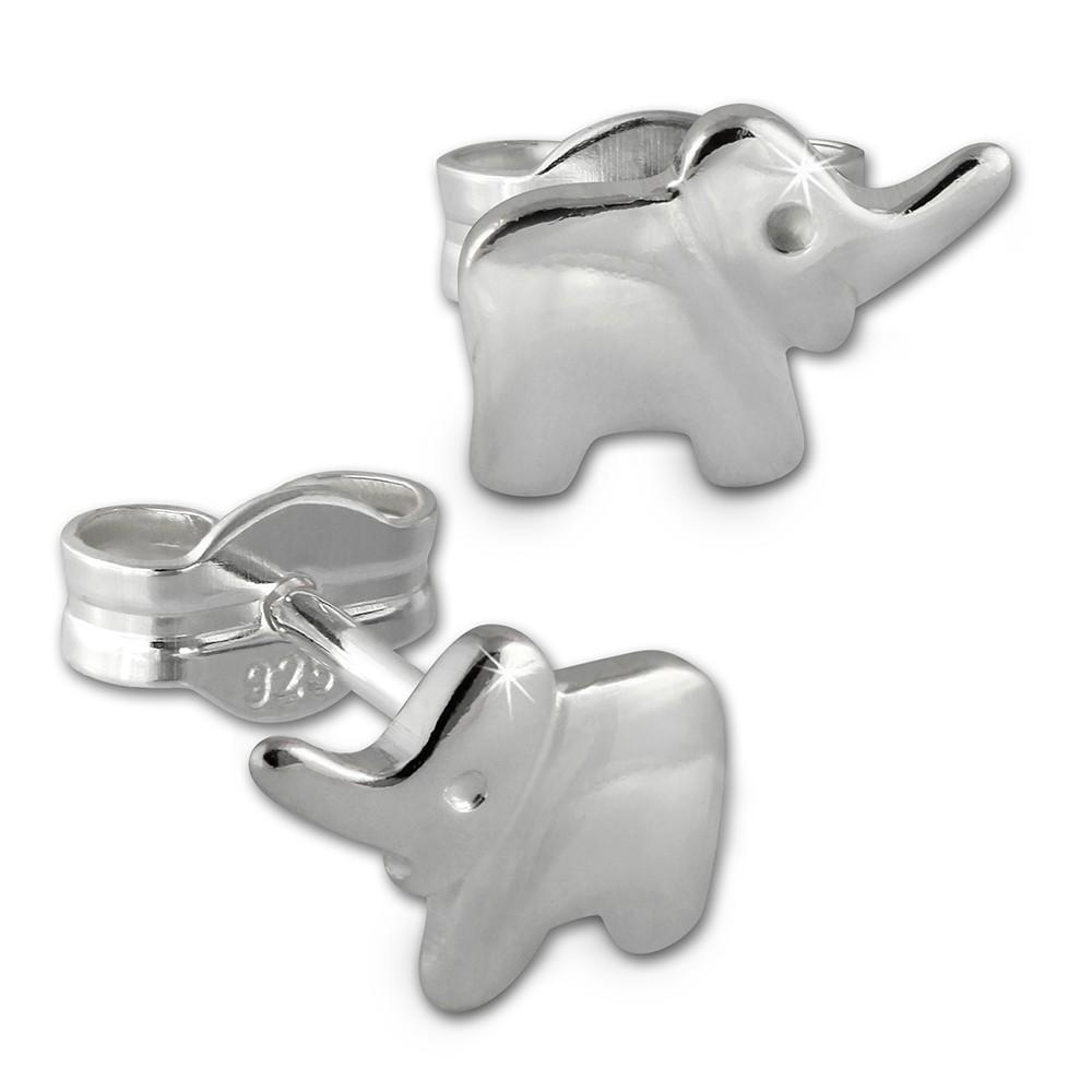 Kinder Ohrring Elefant 925er Sterling Silber Kinderschmuck TW SDO591J