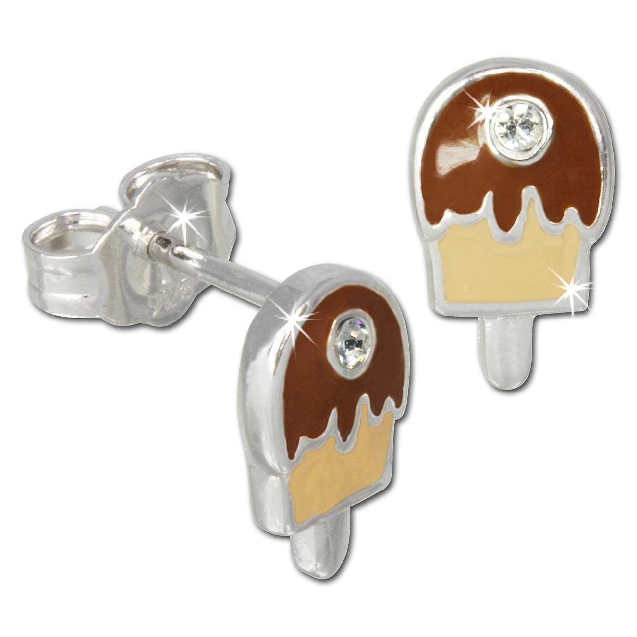 Kinder Ohrring Eis am Stiel Silber Ohrstecker Kinderschmuck TW SDO600N