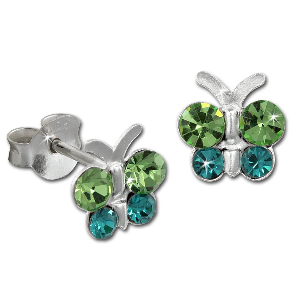 Kinder Ohrring Schmetterling grün Ohrstecker 925 Kinderschmuck TW SDO8014G