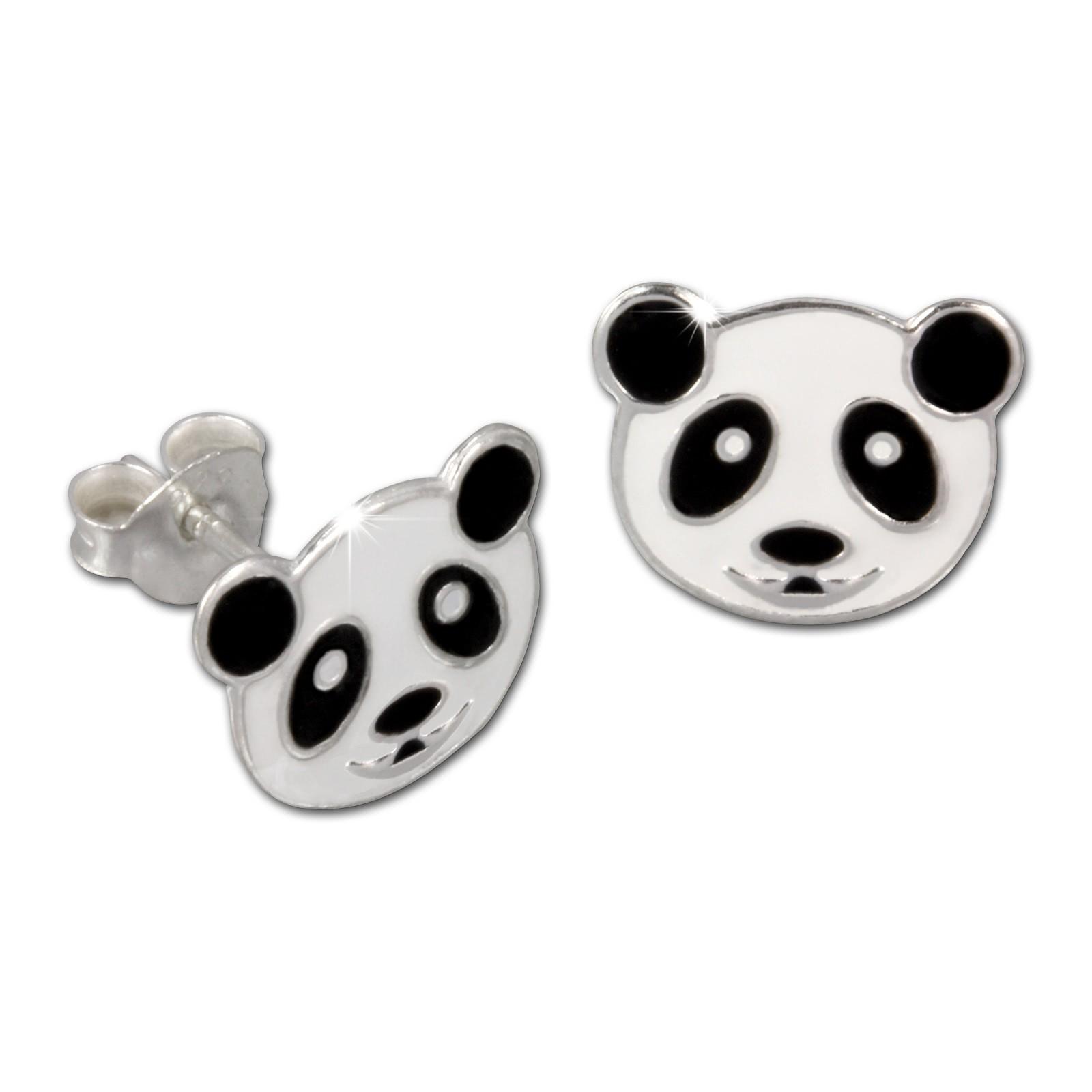 Kinder Ohrring Panda weiß Silber Ohrstecker Kinderschmuck TW SDO8103W