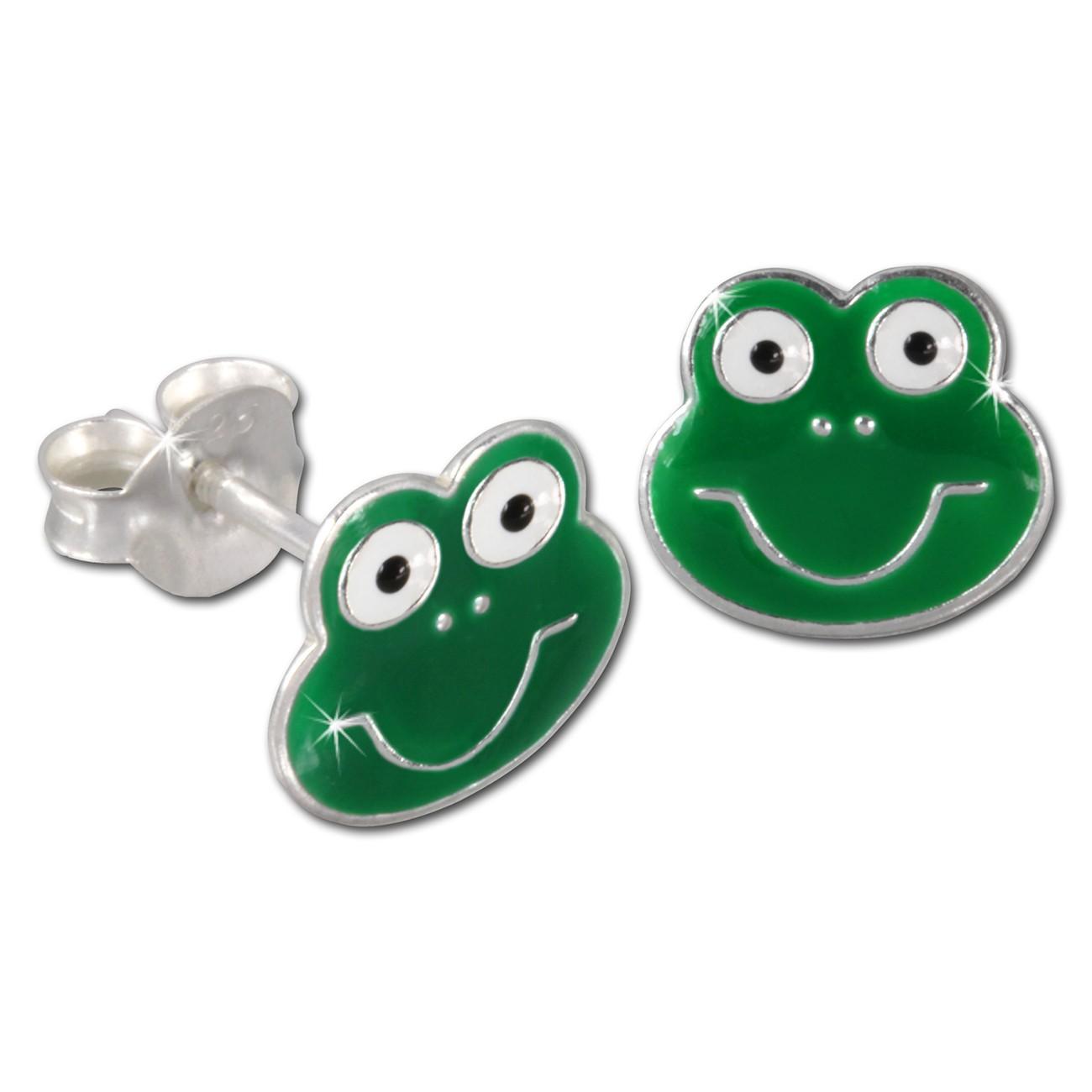 Kinder Ohrring Frosch grün Silber Ohrstecker Kinderschmuck TW SDO8111G