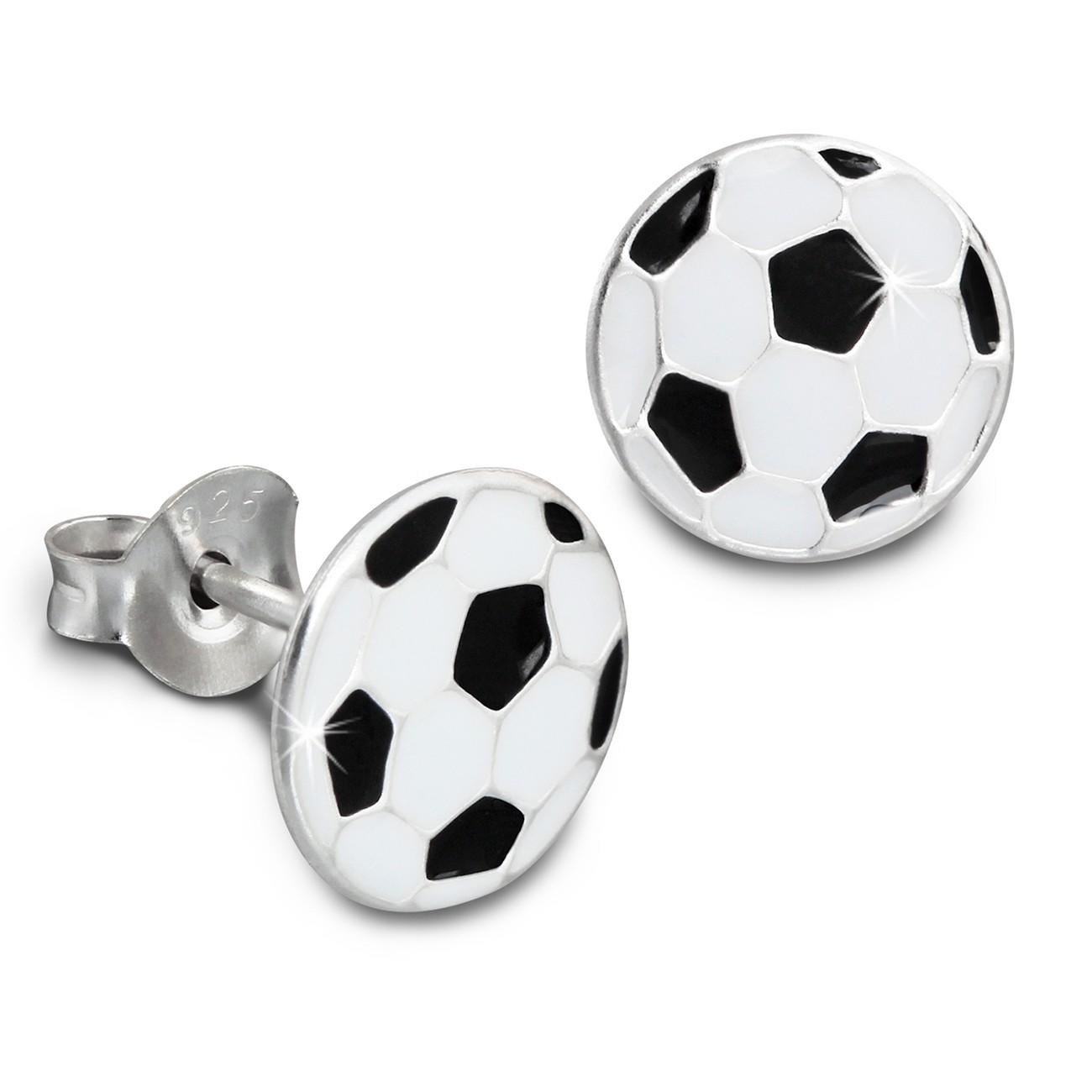 Kinder Ohrring Fußball 925er Silber Kinderschmuck TW SDO8114S