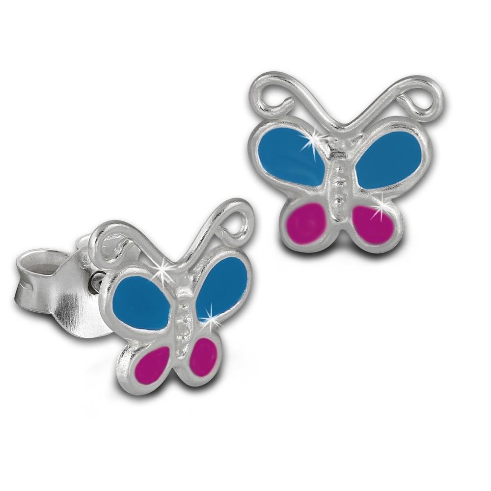 Kinder Ohrring Schmetterling hellblau Ohrstecker 925 Kinderschmuck TW SDO8127H