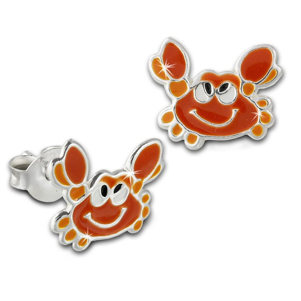 Kinder Ohrring Krabbe orange Ohrstecker 925 Kinderschmuck TW SDO8136O
