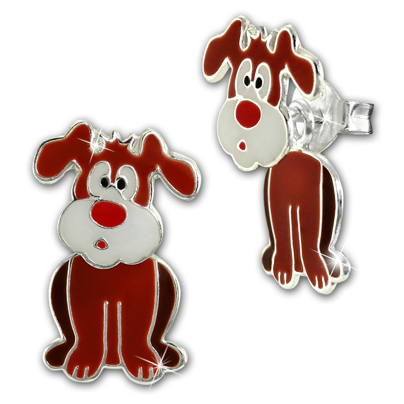 Kinder Ohrstecker Hund Dangle 925 Sterling Silber Kinderschmuck TW SDO8166N
