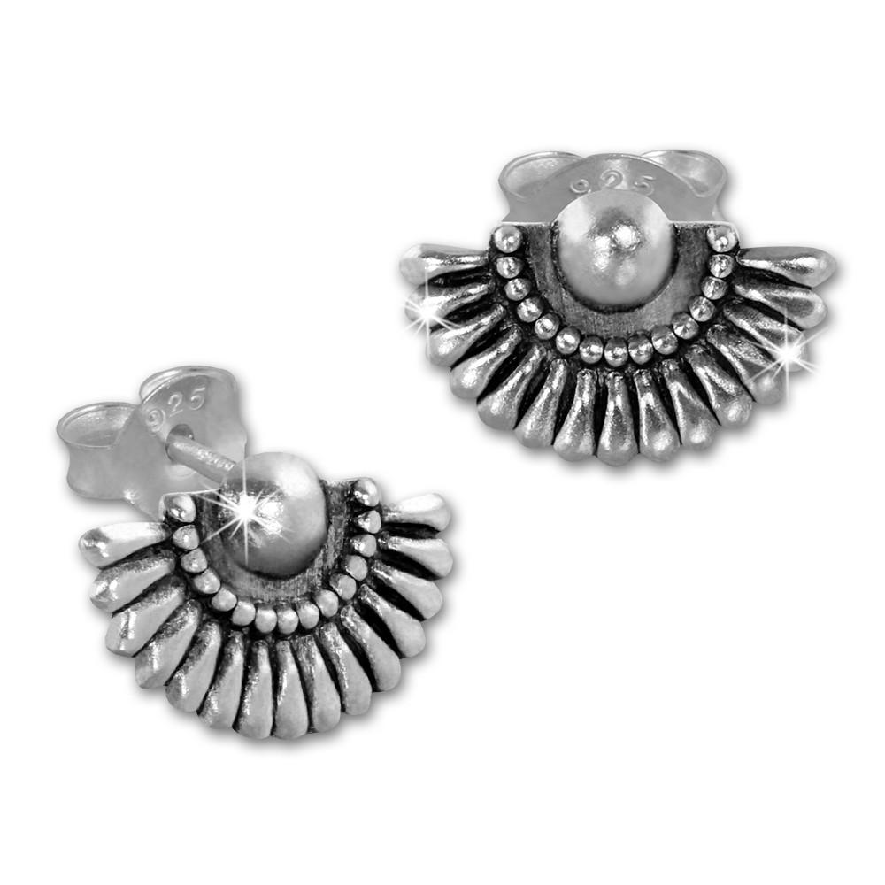 SilberDream Ohrstecker Fächer 925 Sterling Silber Damen Ohrrring SDO8215S
