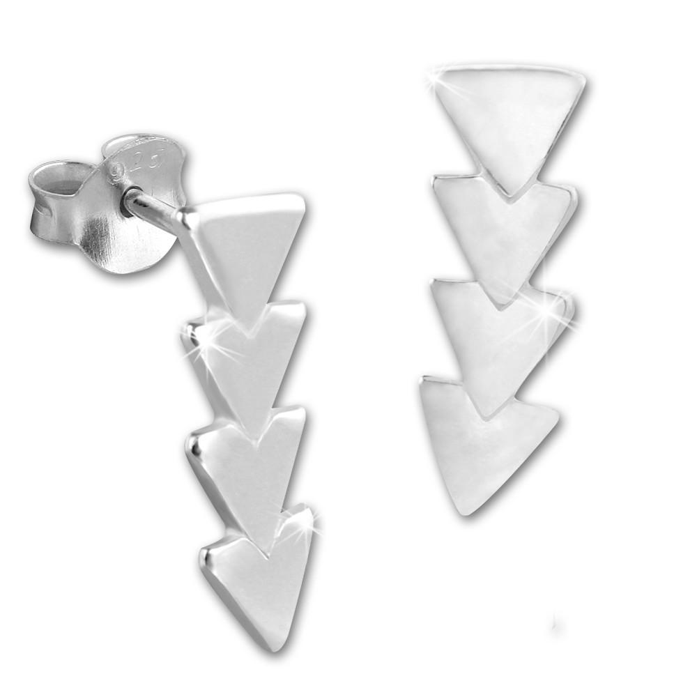 SilberDream Ohrstecker Dreiecke 925 Sterling Silber Damen Ohrrring SDO8218J