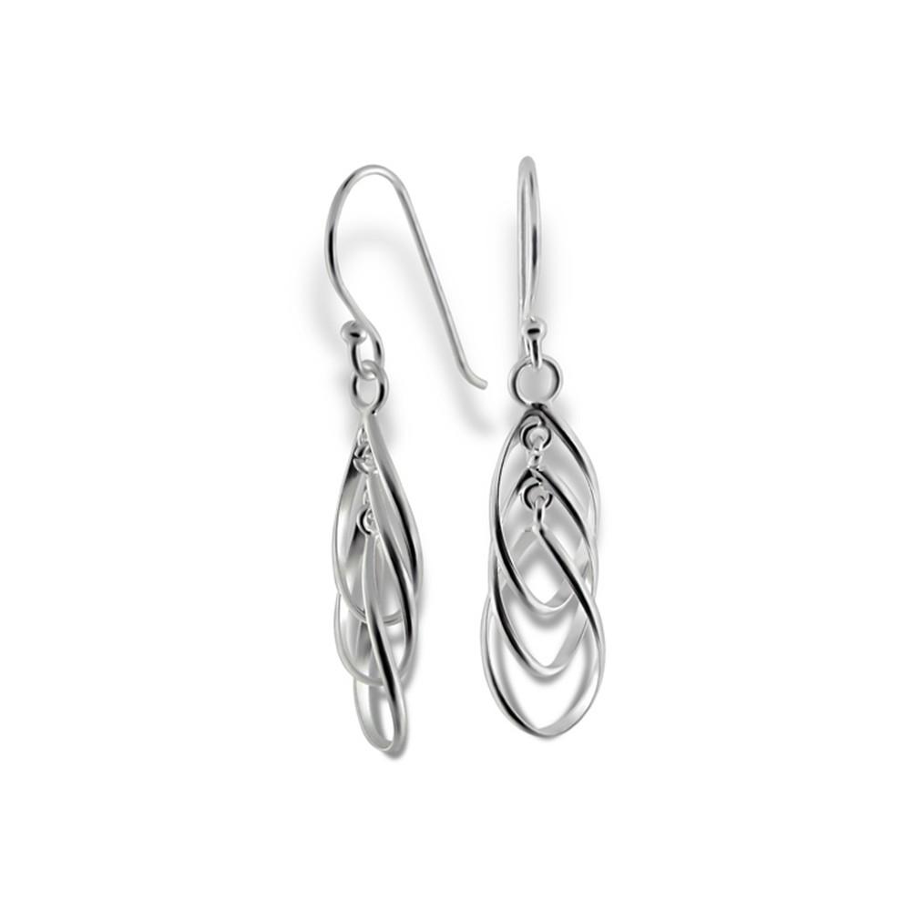 SilberDream Ohrringe verschlungene Träne 925 Silber Ohrhänger SDO8802