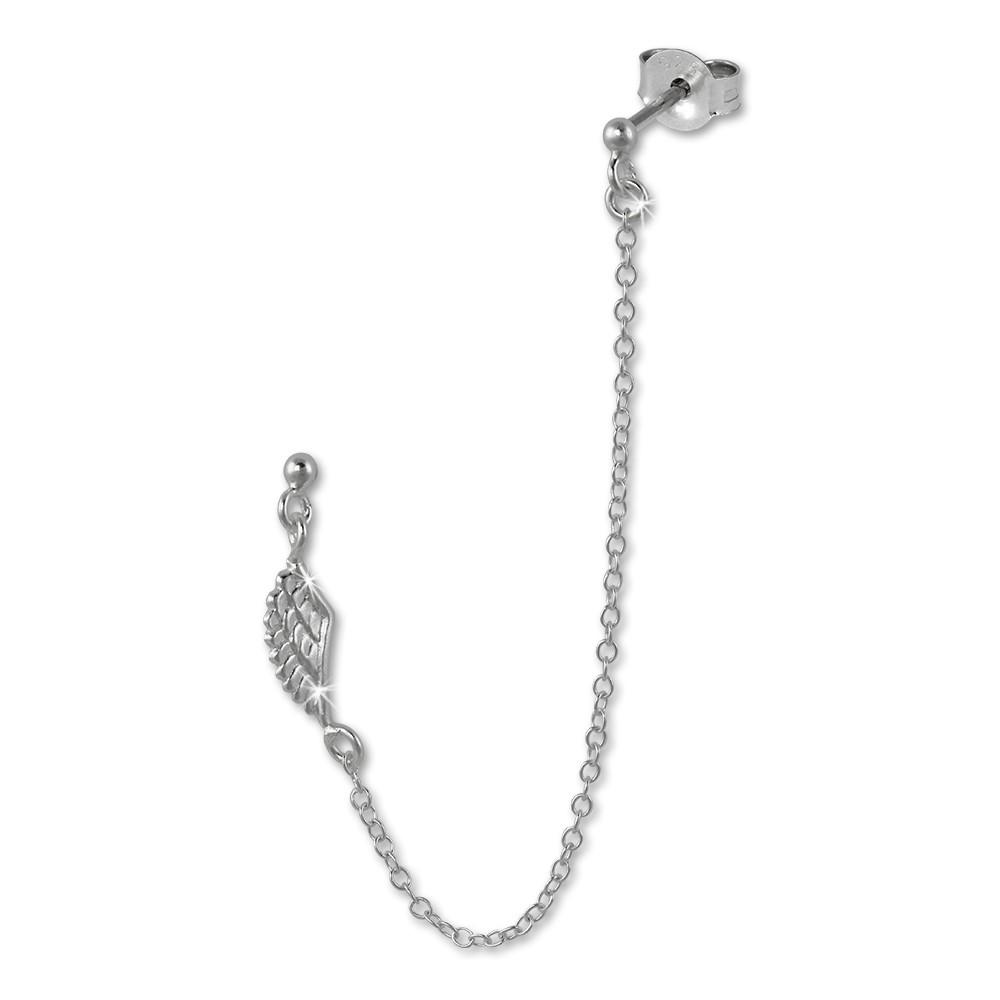SilberDream Doppel Ohrstecker Flügel Piercing 925 Silber SDO8860