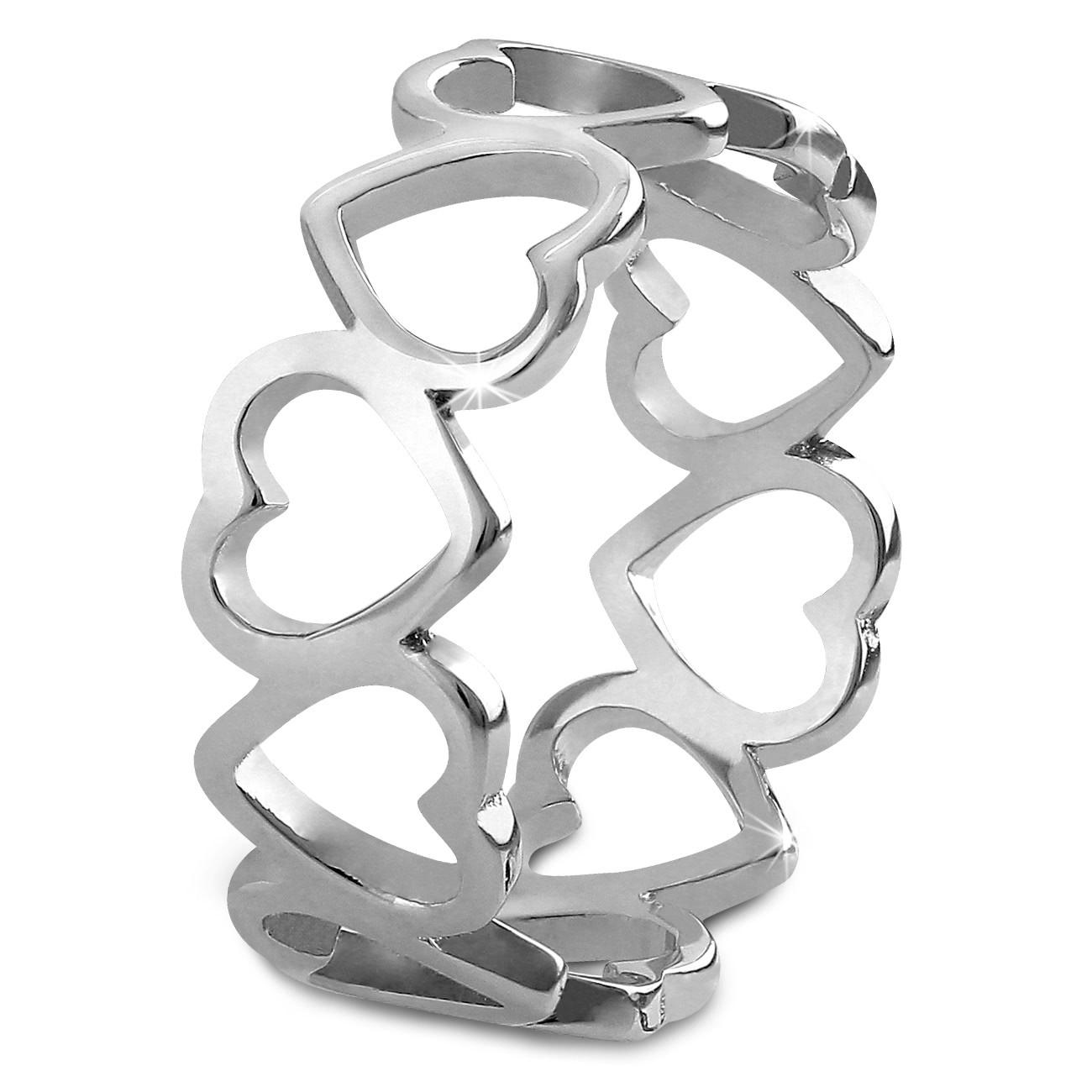 SilberDream Ring Herzen Gr. 60 Sterling 925er Silber SDR400J60