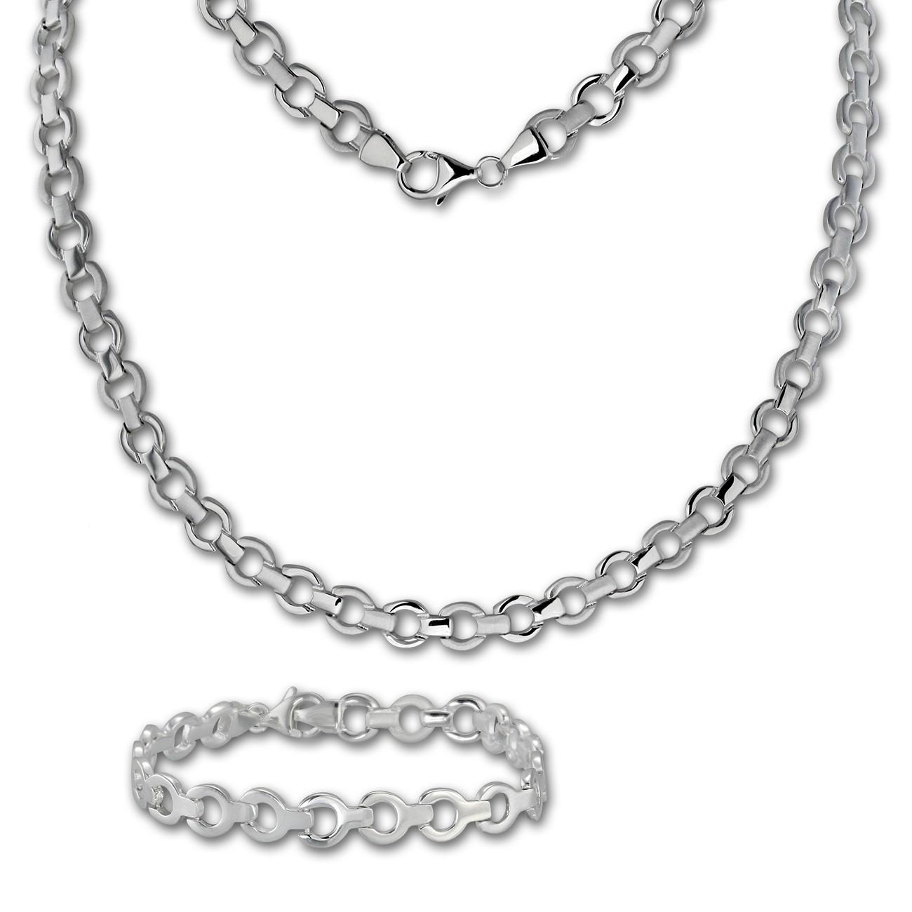 SilberDream Schmuck Set rund Collier & Armband Damen 925 Silber SDS439J