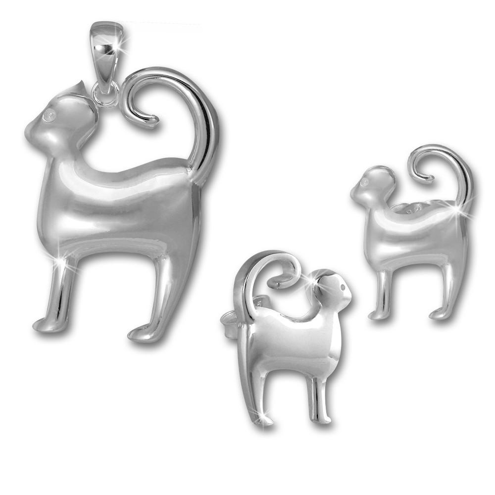 Teenie-Weenie Kinder Schmuck Set 925 Silber Kätzchen SDS4911J