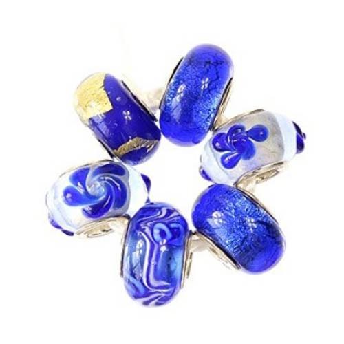 IMPPAC Glas 925 Glas Bead Set Royal European Beads SMA017