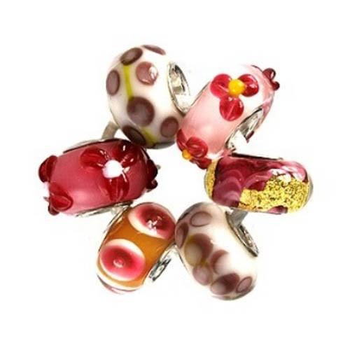 IMPPAC Glas 925 Bead Set Valentin European Beads SMA039