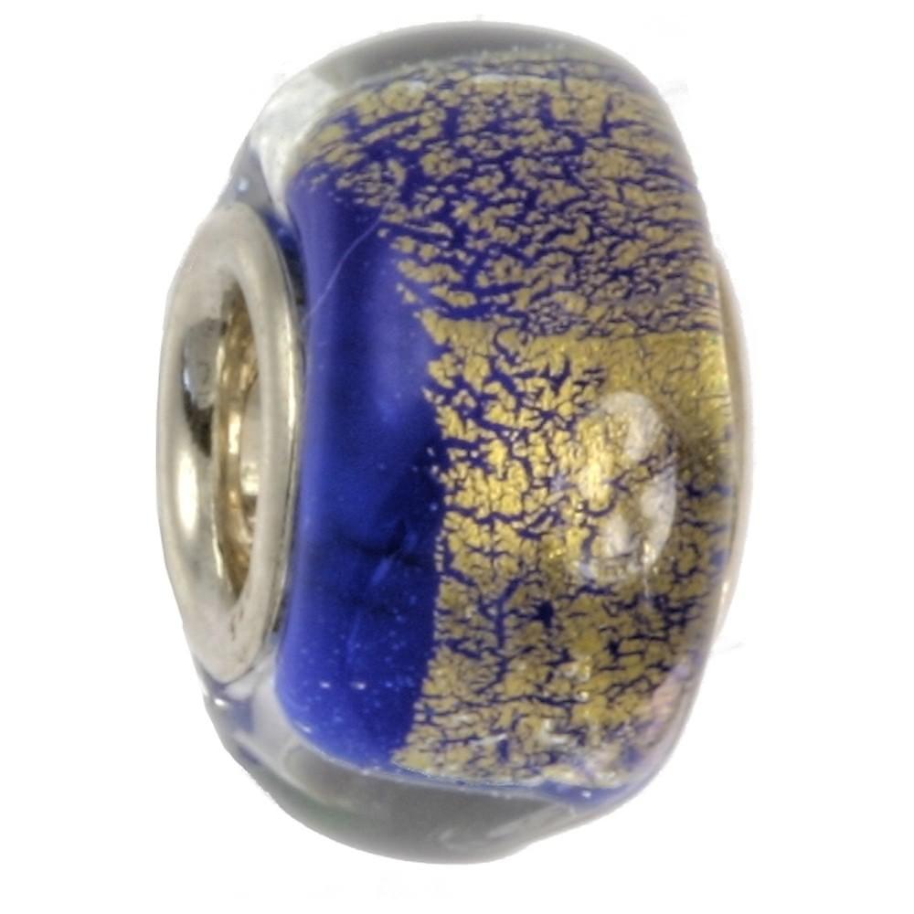 IMPPAC Glas 925 Spacer kobaltblau European Beads SMB0303