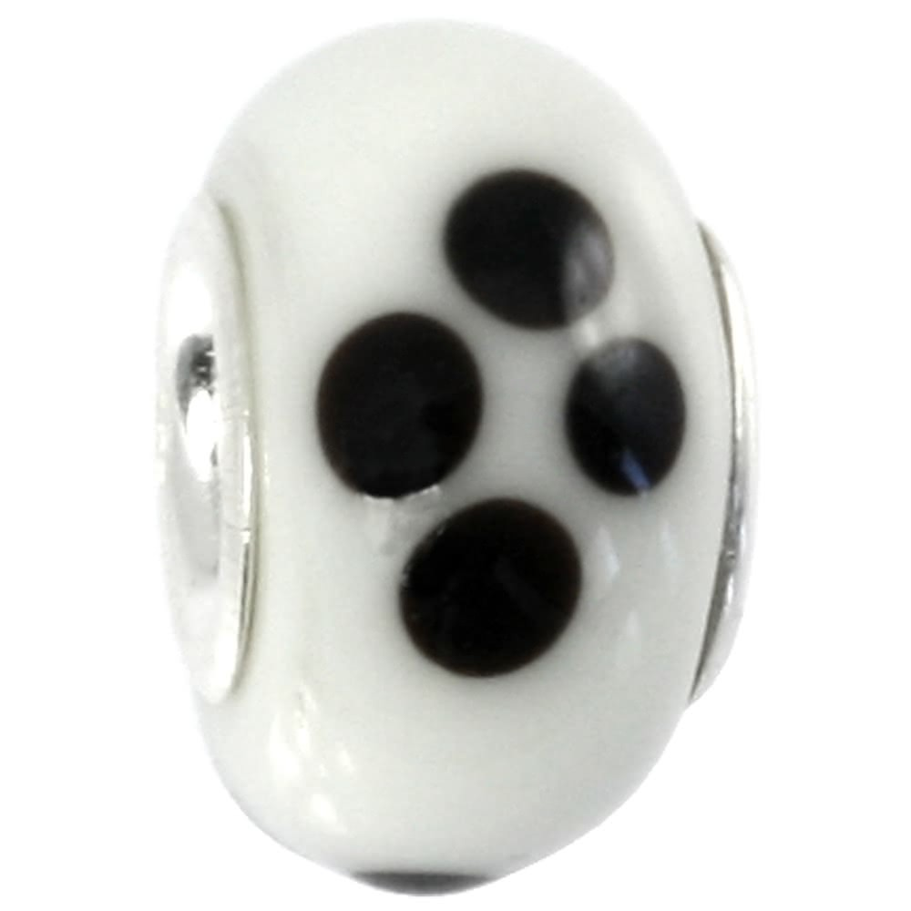 IMPPAC Glas 925 Bead Spacer White European Beads SMB8044