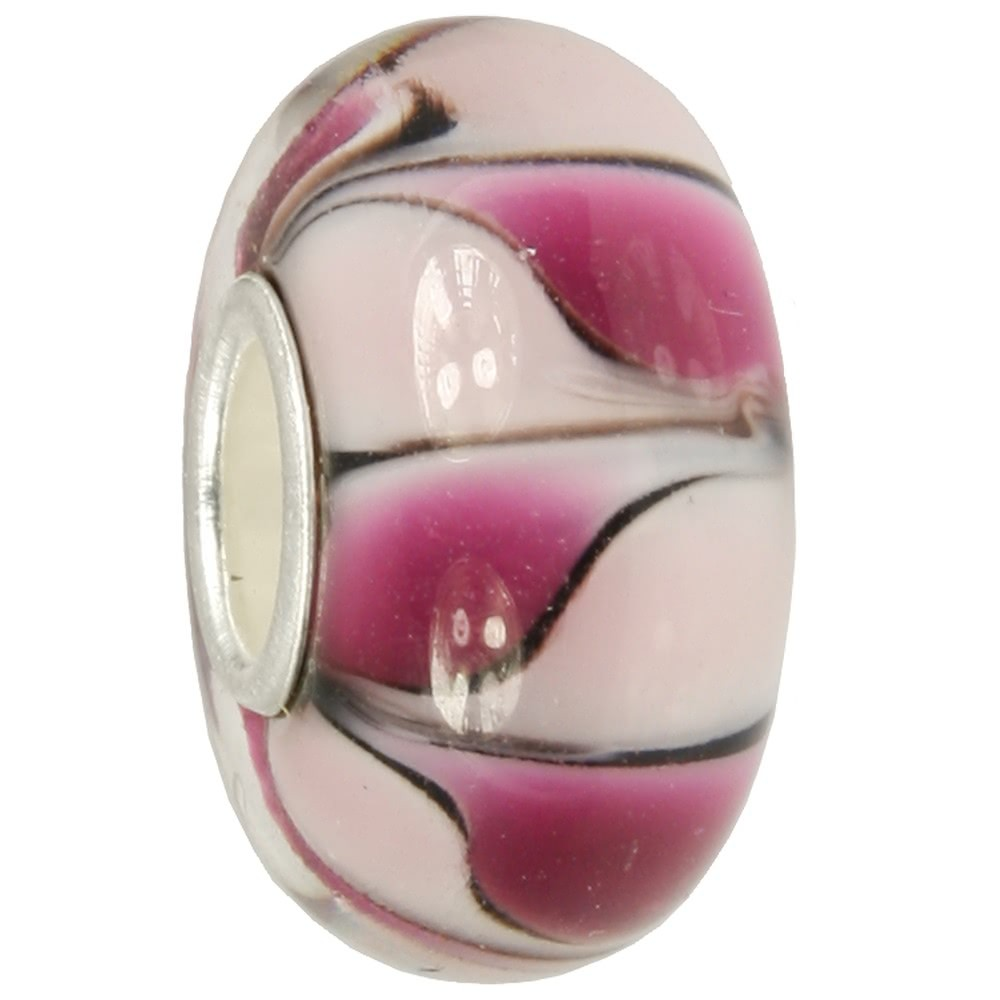 IMPPAC Glas Bead Dream lila 925 Sterling Silber European Beads SMB8109