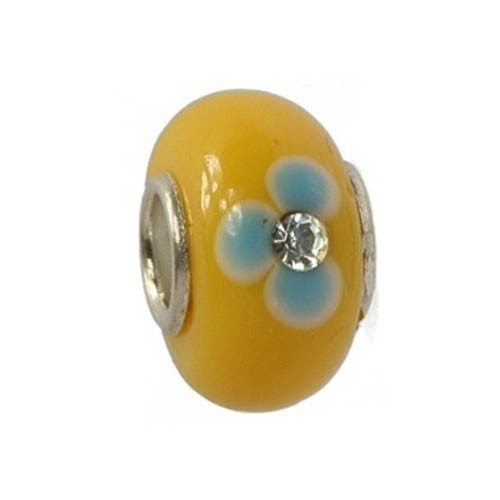 IMPPAC Glas 925 Spacer Bead Orchidee European Beads SMC202