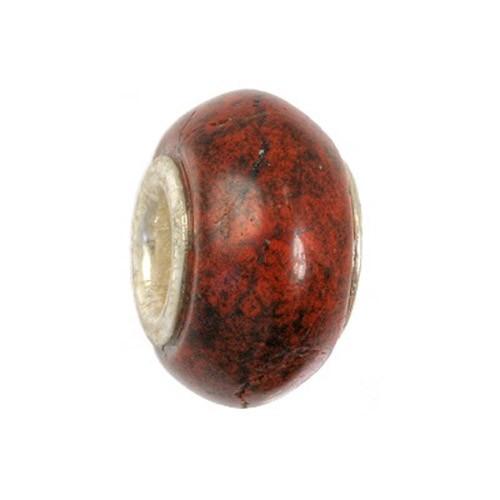 IMPPAC Stein 925 Bead Karneol European Beads Armband SMDE27