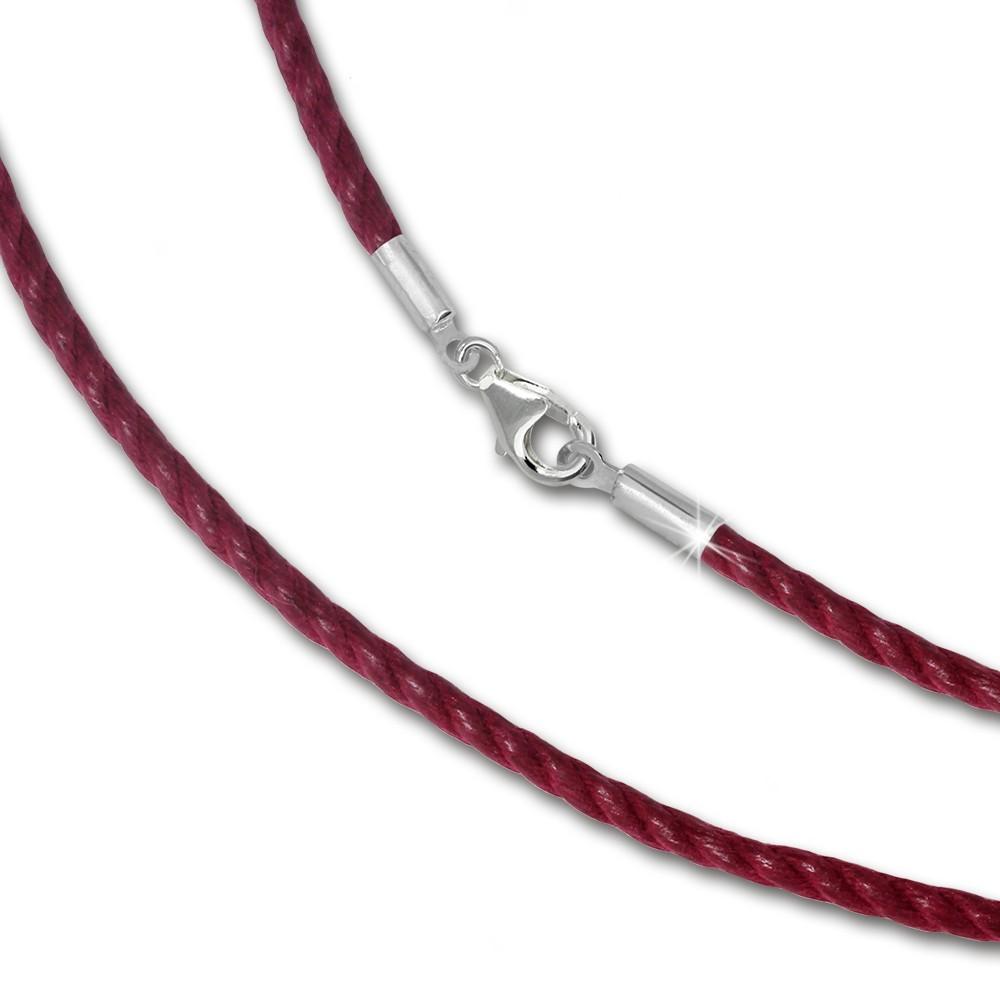 IMPPAC 19 cm Textilband 925 bordeaux für European Beads SML8019