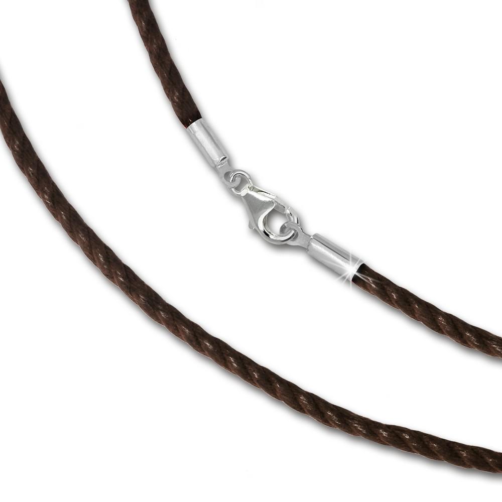 IMPPAC Textil Armband 925 braun für European Beads SML8219