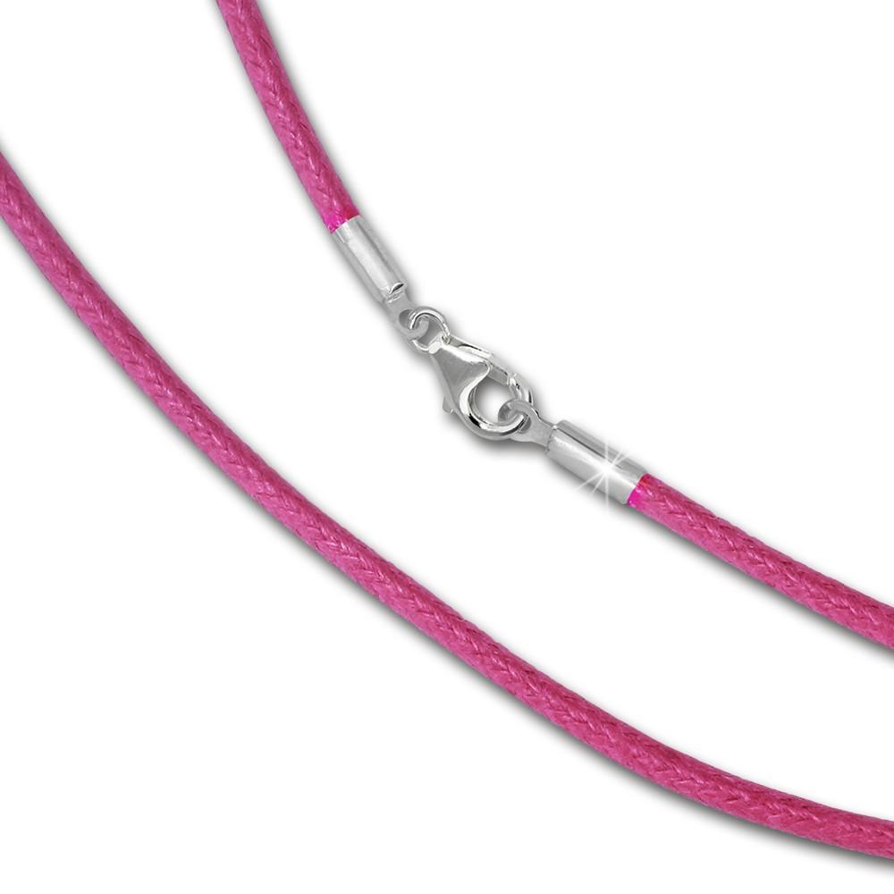 IMPPAC Textil Kette 925 pink für European Beads SML8470