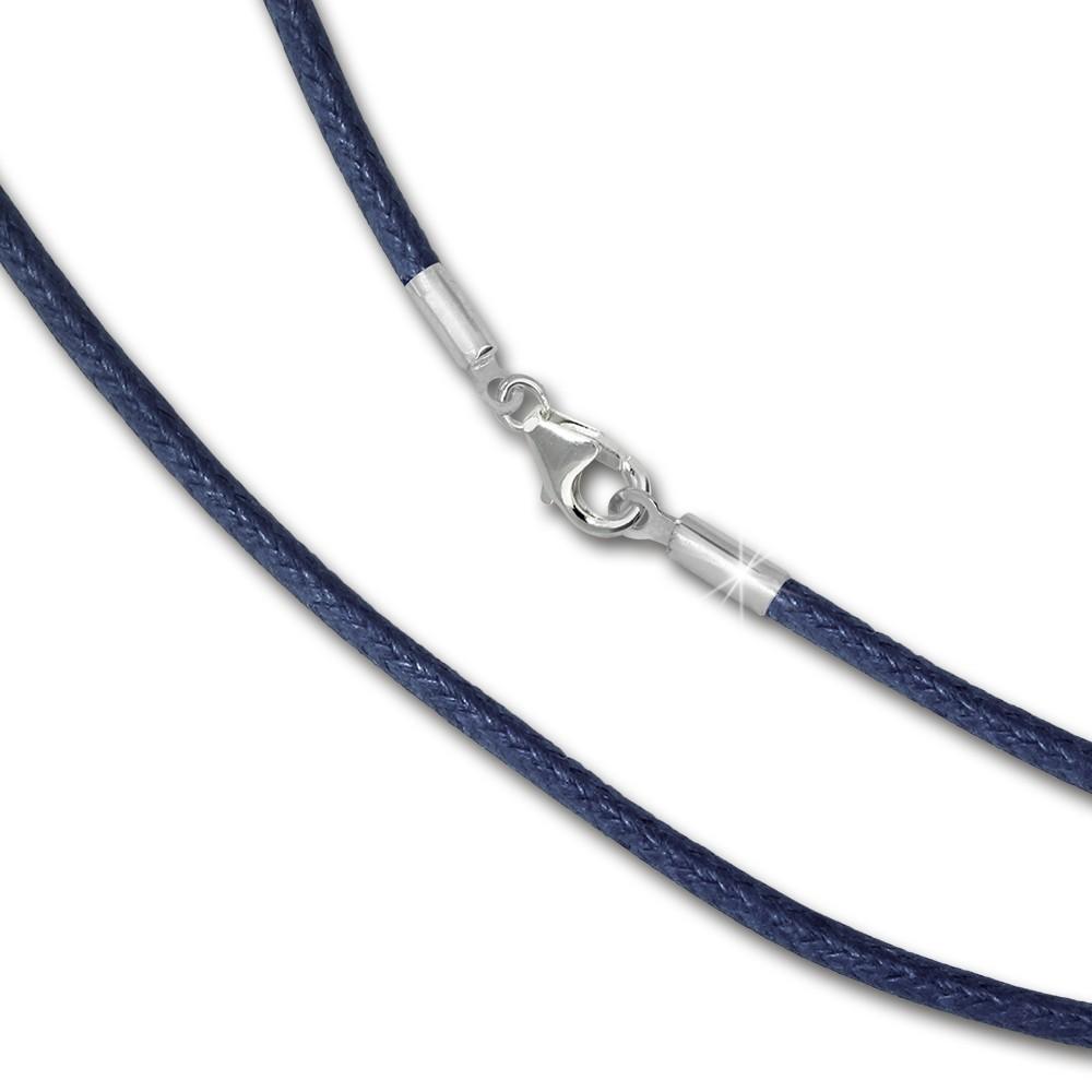 IMPPAC Textil Armband 925 marine für European Beads SML8521