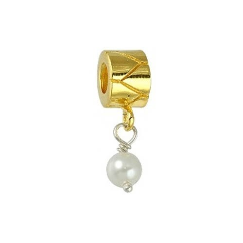 IMPPAC Silber Bead Perle Dangle gold European Beads SMQ103Y