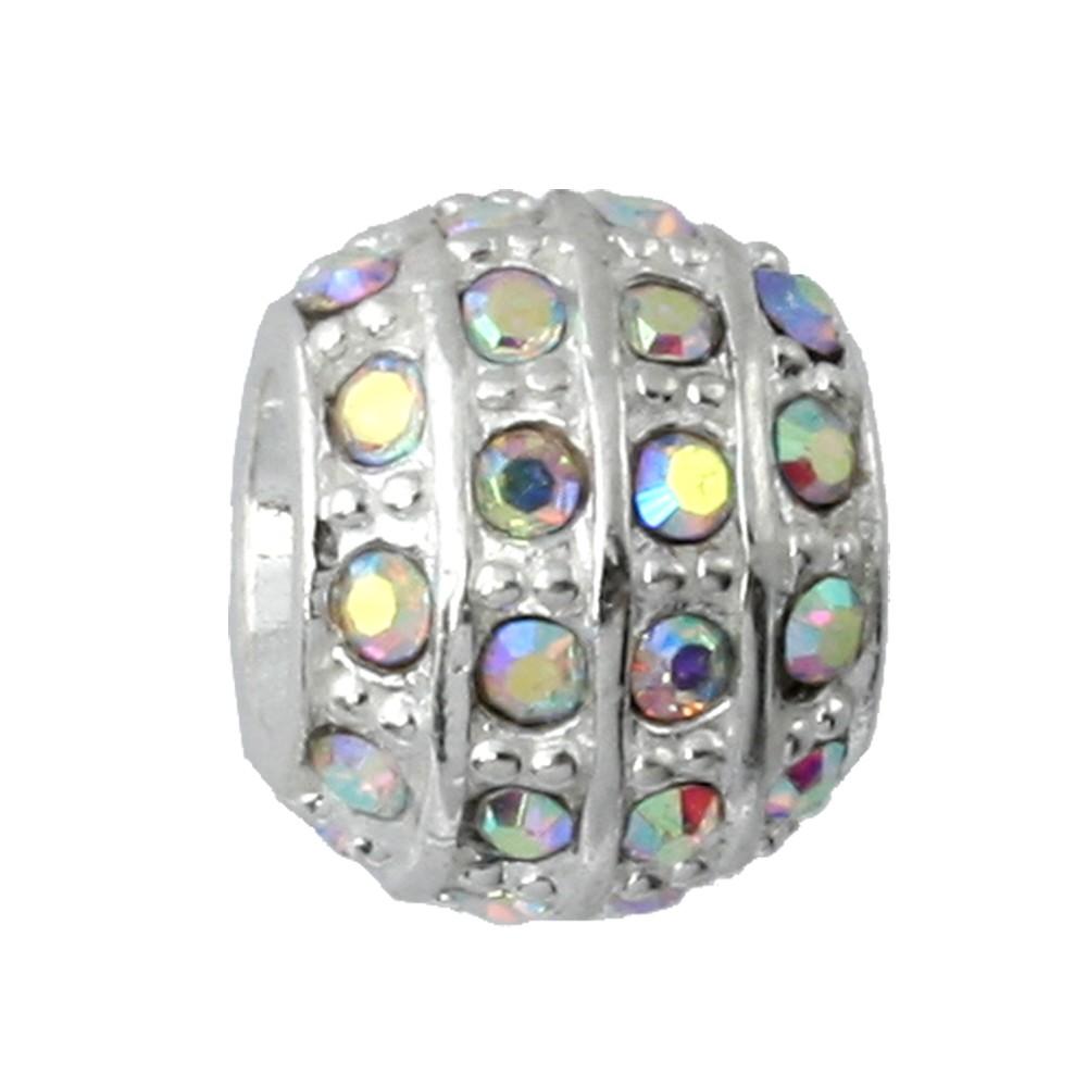 IMPPAC 925 Silber Bead Kugel Zirkonia European Beads SMQ191F