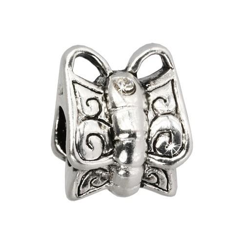IMPPAC Bead Modul Schmetterling weiß European Beads SMQ586W