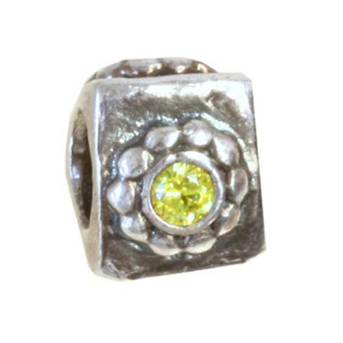 IMPPAC 925 Silber Bead Blume Zirkonia European Beads SMQZ31