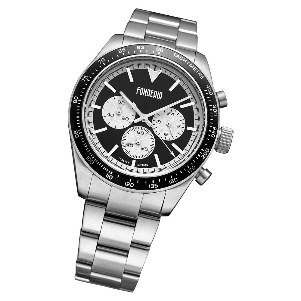Fonderia Herren-Armbanduhr P-0A011UNW Quarz Edelstahl-Armband silber UAP0A011UNW
