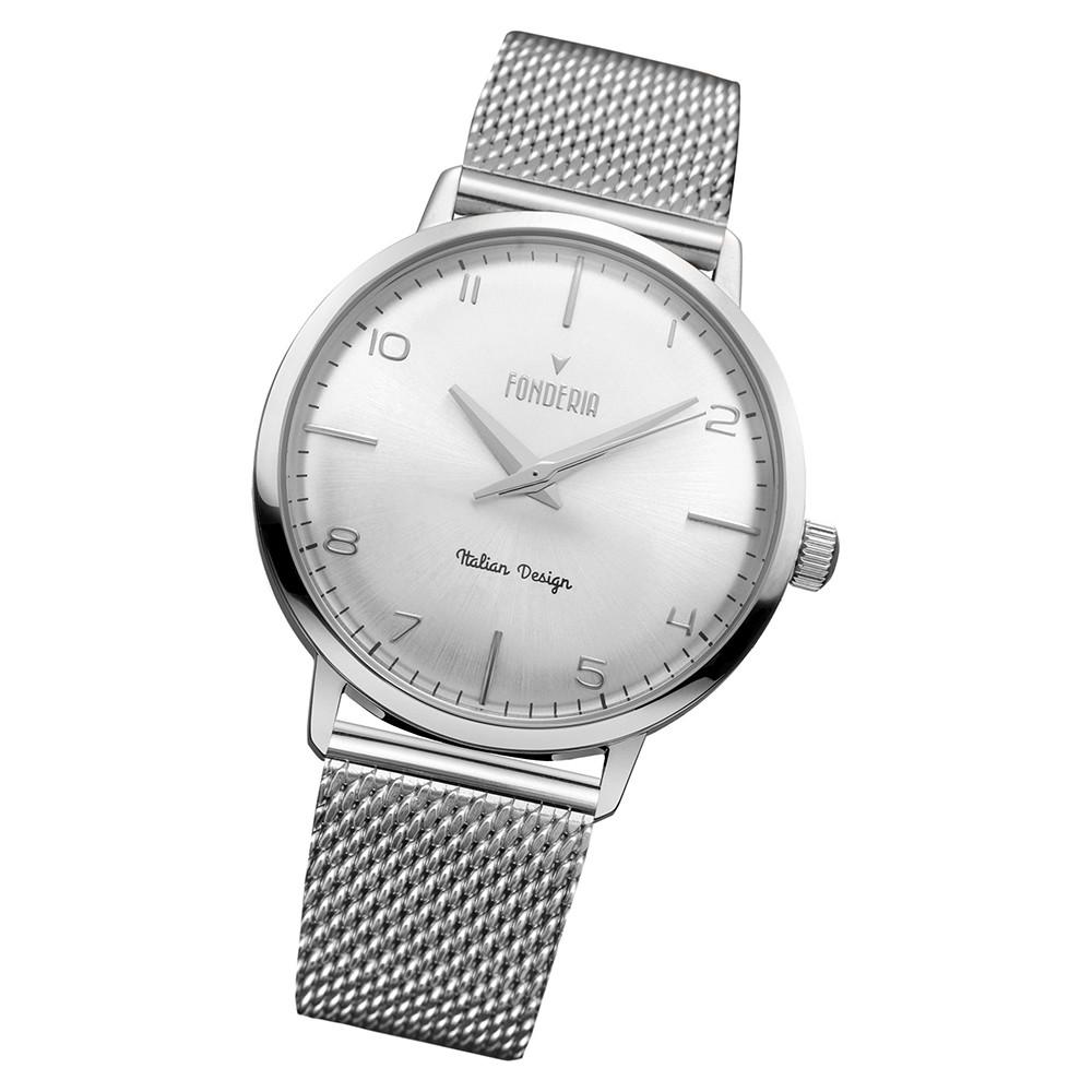 Fonderia Herren-Armbanduhr P-2A003US1 Quarz Edelstahl-Armband silber UAP2A003US1