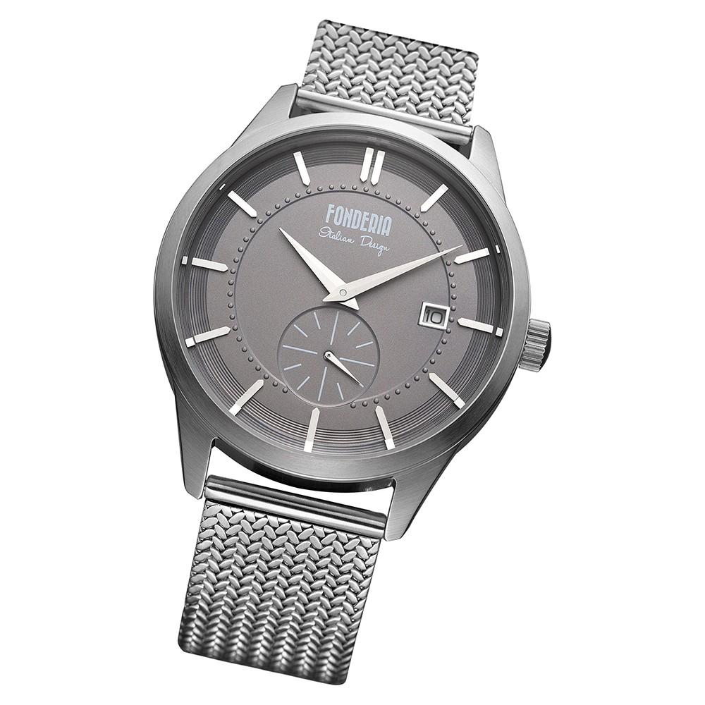 Fonderia Herren-Armbanduhr P-8A009UG1 Quarz Edelstahl-Armband silber UAP8A009UG1