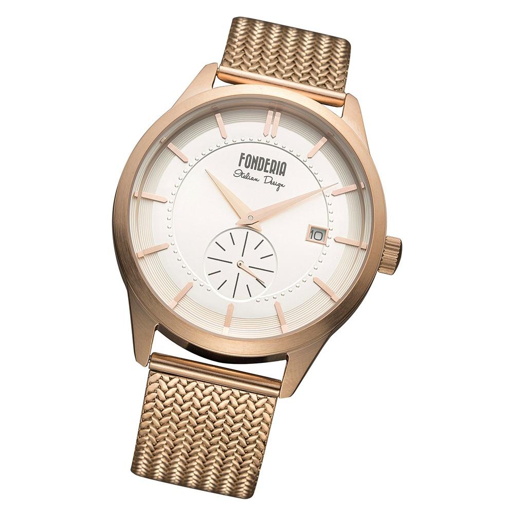 Fonderia Herren-Uhr P-8R009US1 Quarz Edelstahl-Armband rosegold UAP8R009US1