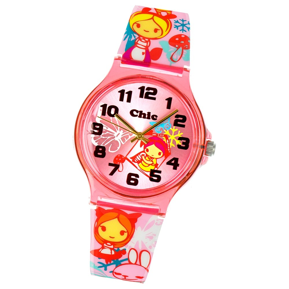Chic-Watches Damenuhr Manga Style Girl Armbanduhr Chic Lady-Uhr UC032