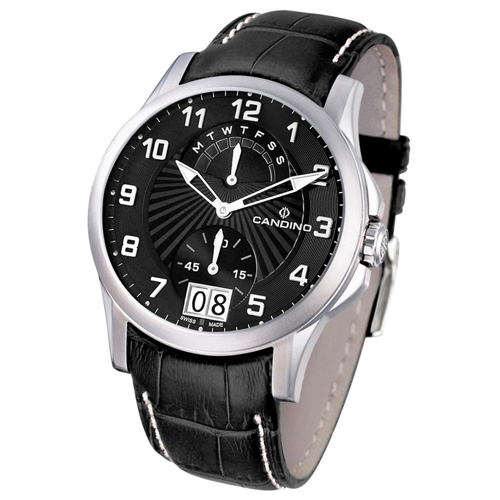 Candino Herren-Armbanduhr After Work analog Quarz Leder UC4387/C
