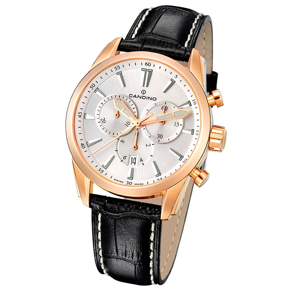 Candino Herren-Armbanduhr Athletic Chic Chronograph Quarz Leder UC4409/4