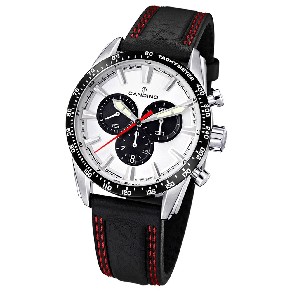 Candino Herren-Armbanduhr Performance Chronograph Quarz Leder UC4429/4