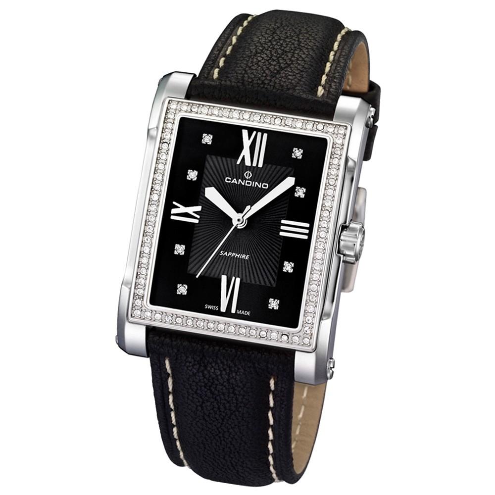 Candino Damen-Armbanduhr Flair analog Quarz Leder UC4437/5