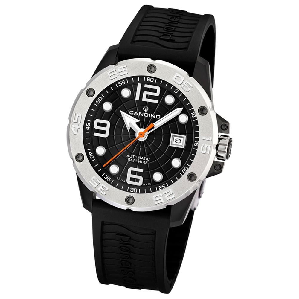 Candino Herren-Armbanduhr Planetsolar analog Automatik PU UC4474/3