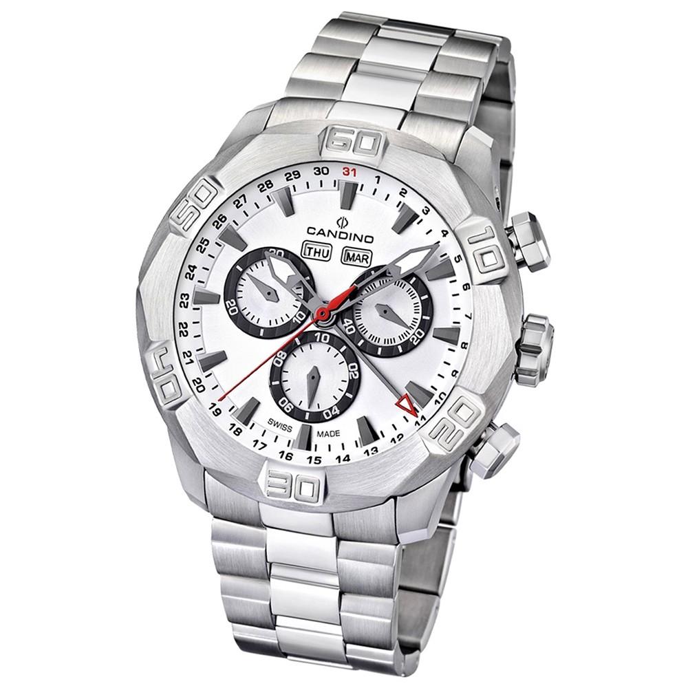 Candino Herren-Armbanduhr Performance Chronograph Quarz Edelstahl 316 L UC4477/1