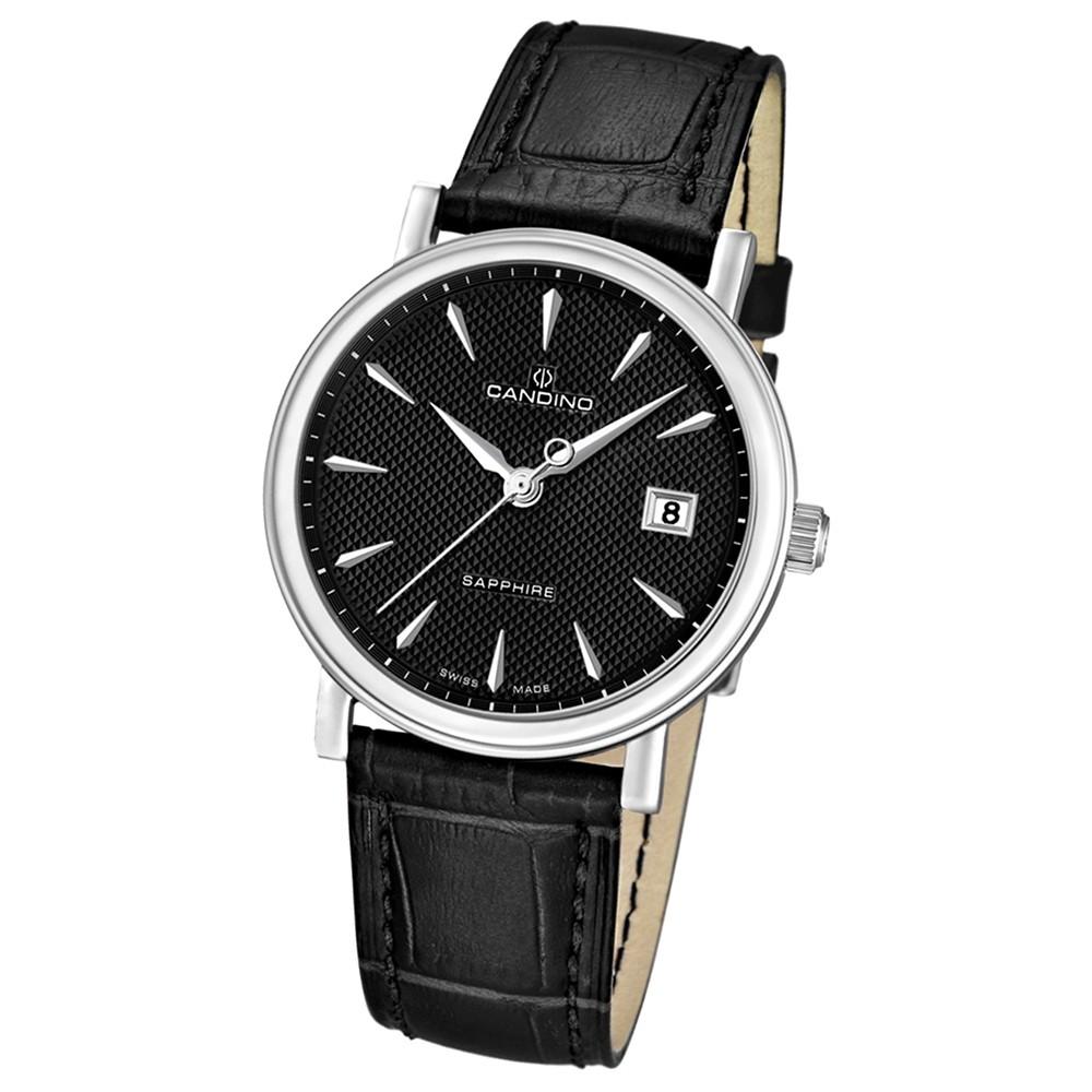 CANDINO Herrenuhr Swiss Made Quarz Classic schwarz Saphirglas UC4487/3