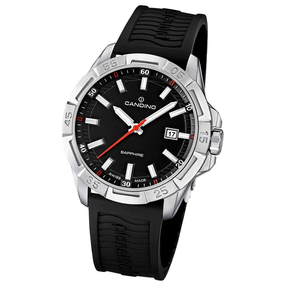 Candino Herren-Armbanduhr Planetsolar analog Quarz PU UC4497/3