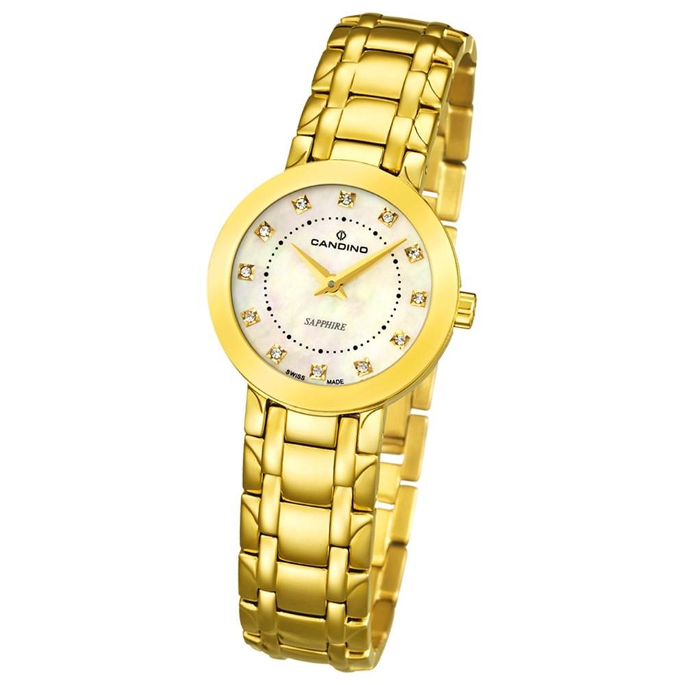 Candino Damen-Armbanduhr Timeless analog Quarz Edelstahl Gelbgold PVD UC4501/3