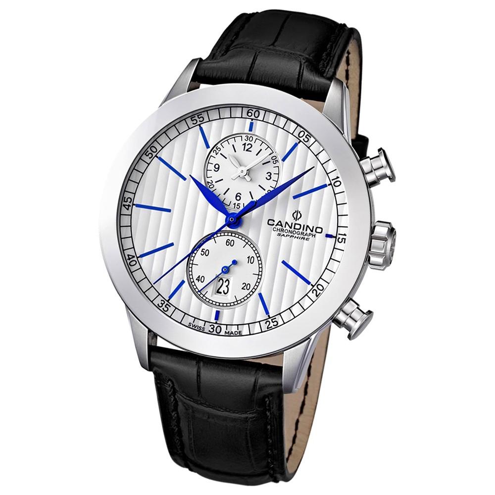 Candino Herren-Armbanduhr Athletic Chic Chronograph Quarz Leder UC4505/2