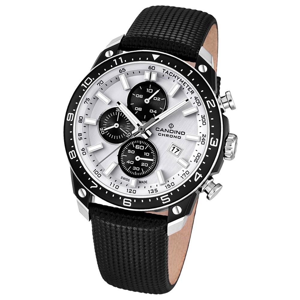 Candino Herren-Armbanduhr Athletic Chic Chronograph Quarz Leder UC4520/1