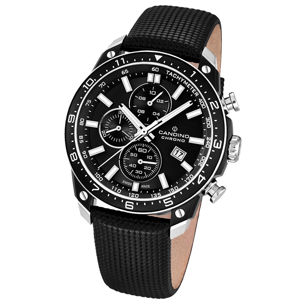 Candino Herren-Armbanduhr Athletic Chic Chronograph Quarz Leder UC4520/3